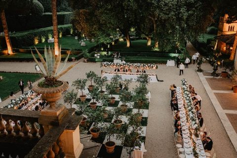 A Stylish wedding at villa Aurelia in Rome