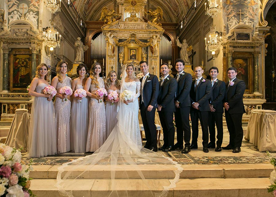 Luxury wedding ceremony in Rome