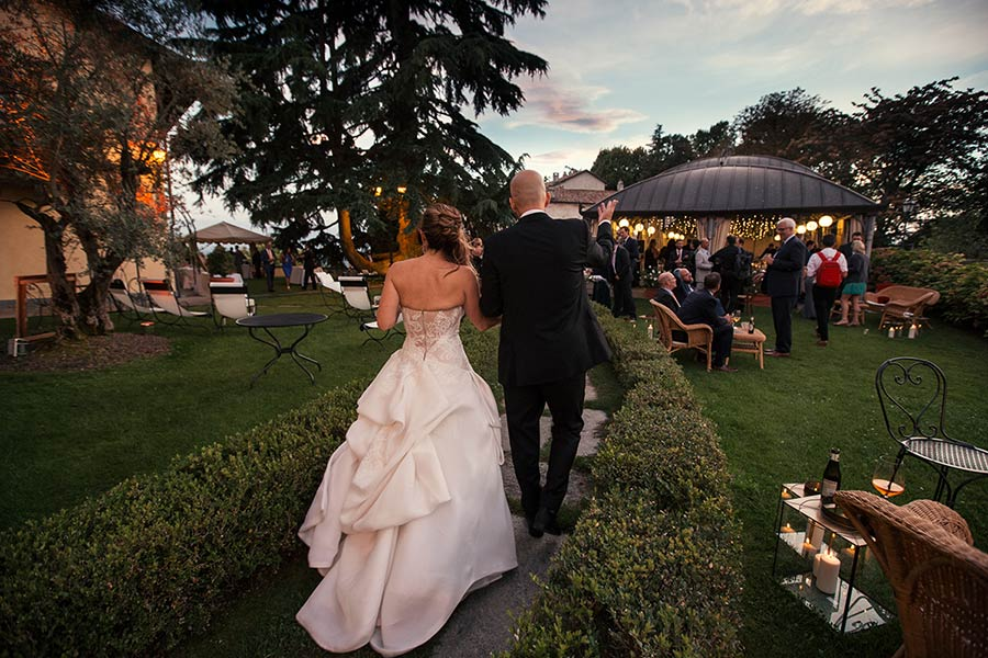 Wedding reception in Villa Beccaris, Piemonte countryside
