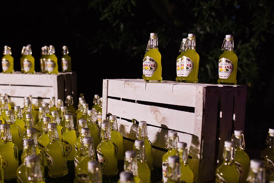 Italian Tradition: Bottles of Limoncello