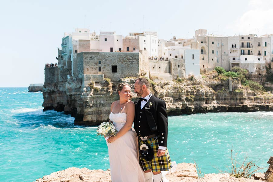 Polignano a Mare, an amazing frame for a wedding in Puglia