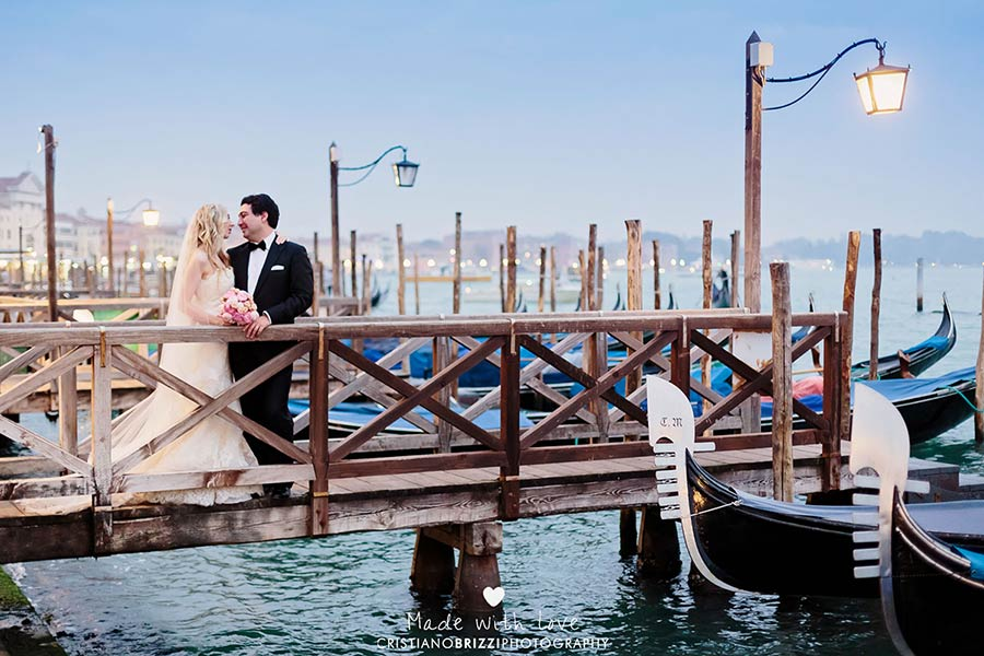 Venetian gondolas - wedding in Venice