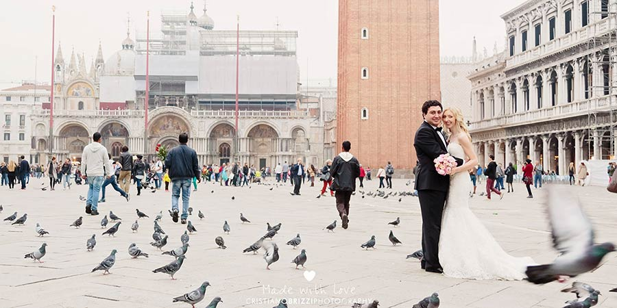 Piazza San Marco - wedding in Venice