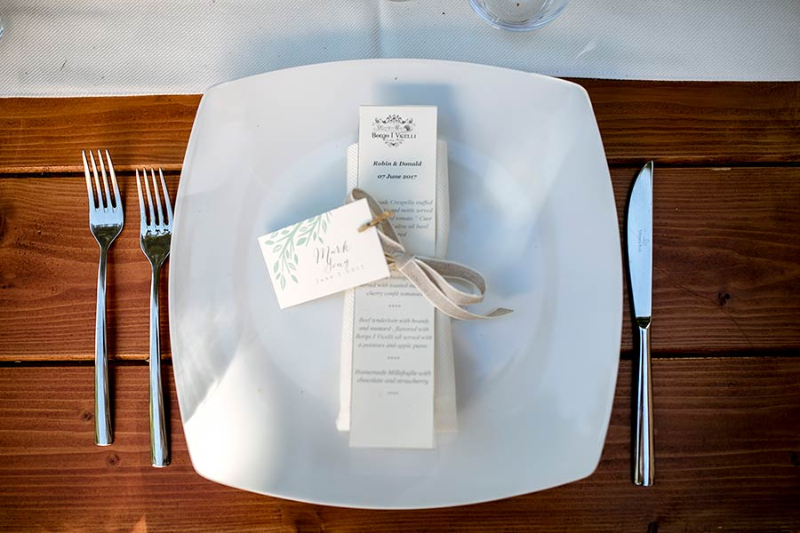 A simple but stylish wedding stationary