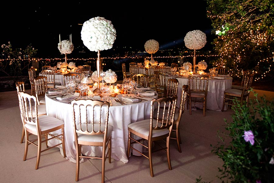 Wedding tables were a masterpiece of elegance