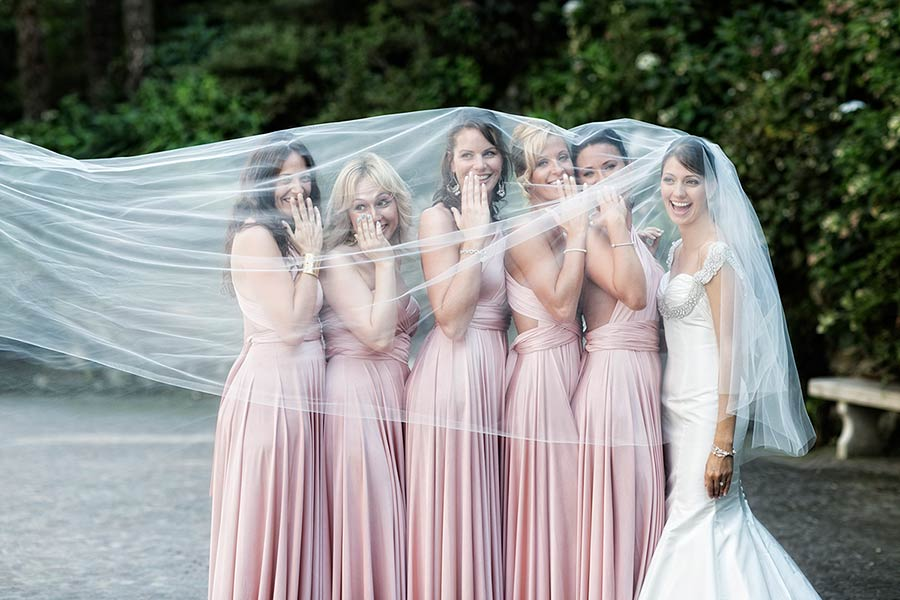 Polina and her bridesmaids