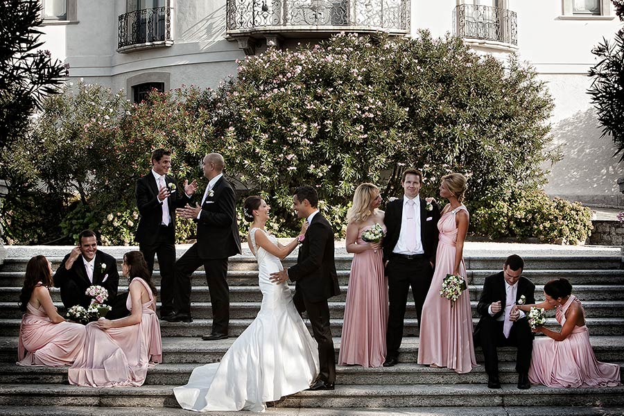 Bridal party in Stresa