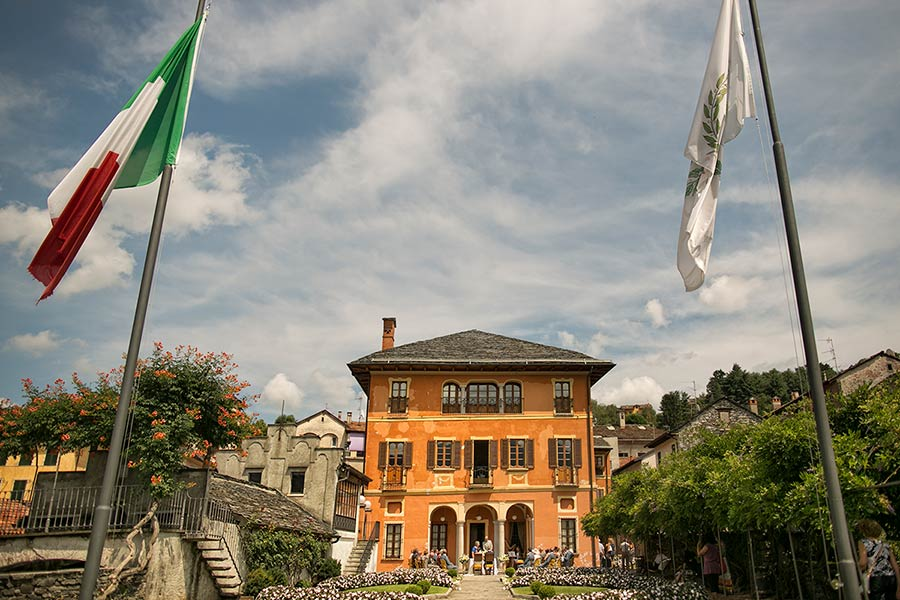Villa Bossi town hall, Lake Orta