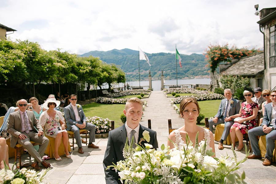 Wedding ceremony at Villa Bossi, lake Orta