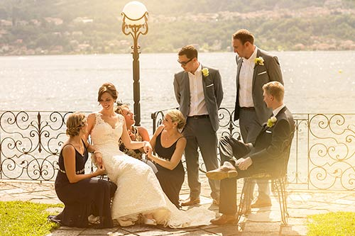 Wedding party on Lake Orta