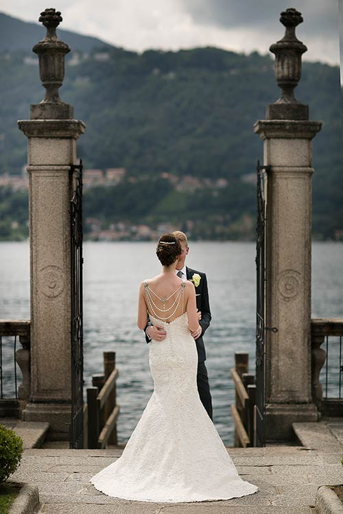Stylish wedding on Lake Orta