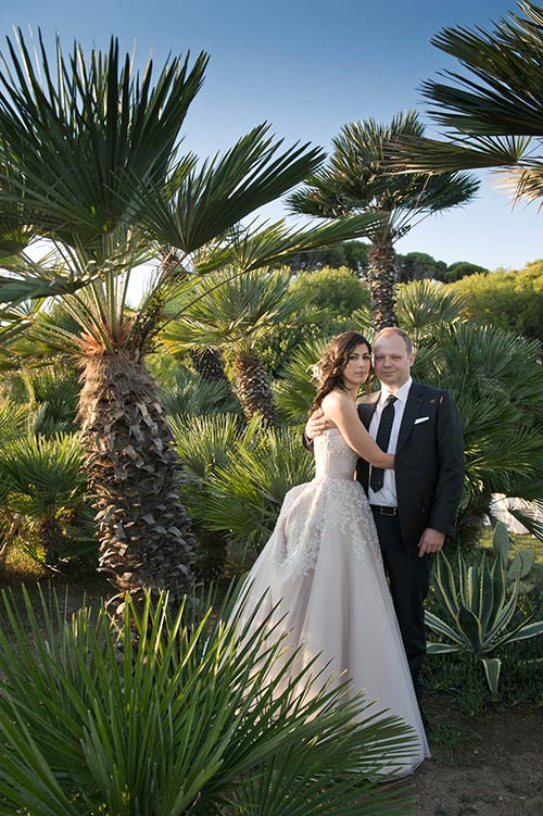Garden style wedding on Roman Riviera