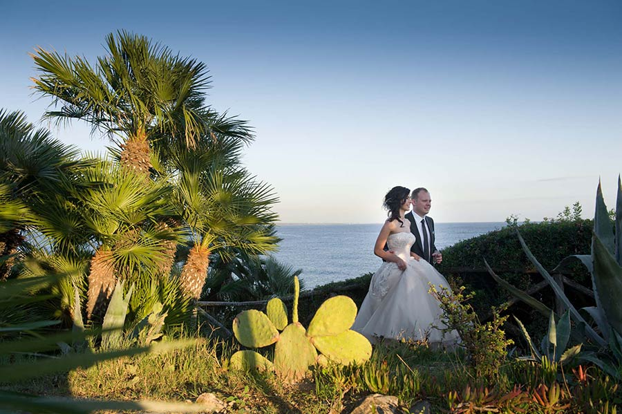 Seaside wedding on Roman Riviera