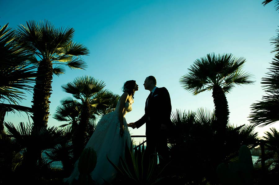 Romantic wedding by the sea on Roman Riviera