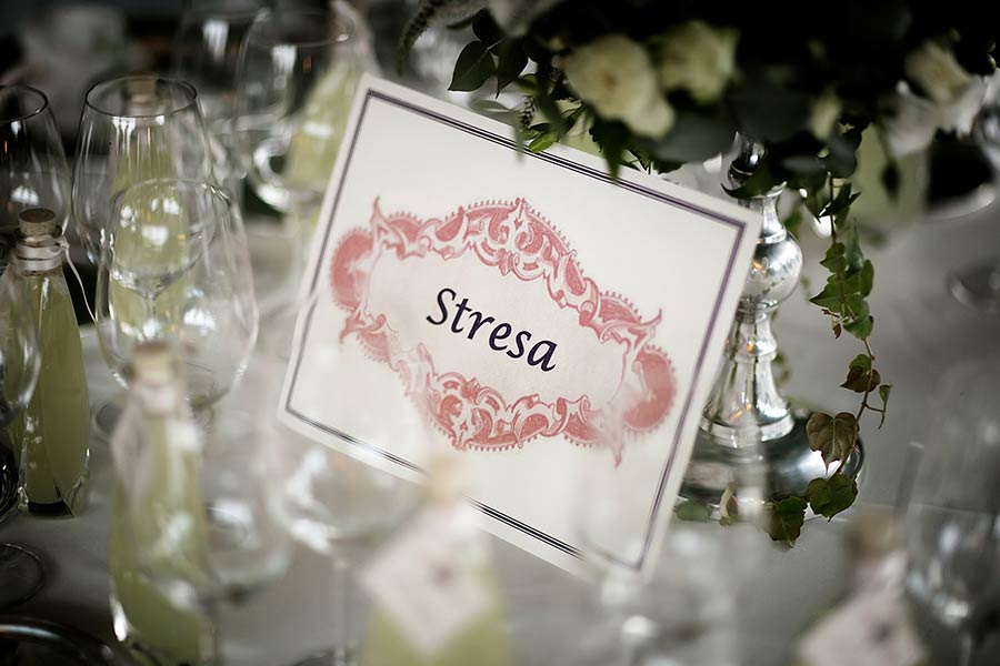 Wedding reception in Stresa