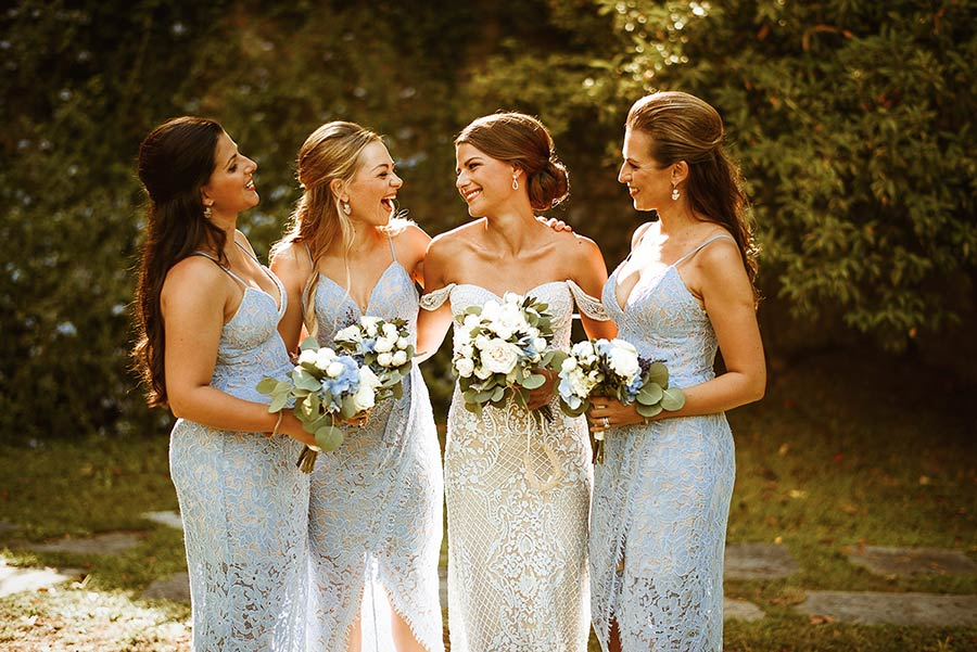 Bride and her bridesmaids at La Cervara in Portofino