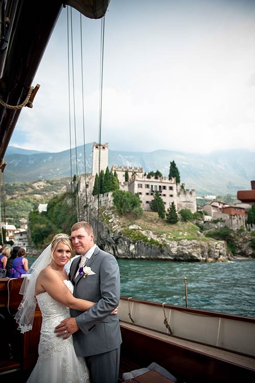 Nicola and Stephan's wedding at Malcesine Castle - photo Mauro Pozzer