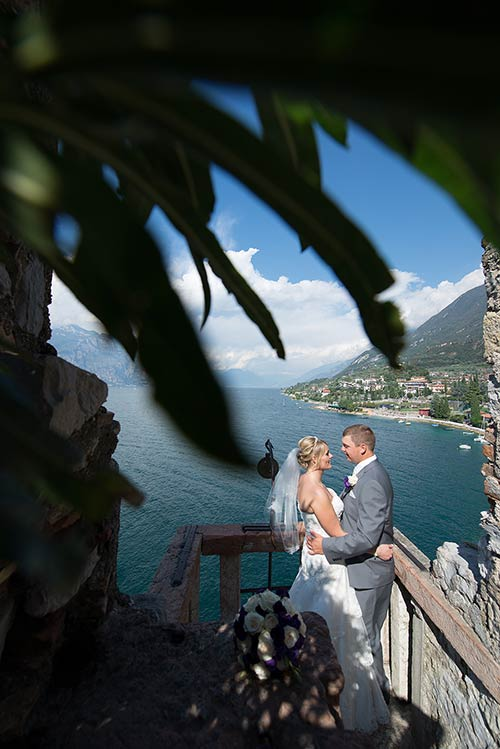 Stephan and Nicola's wedding at Malcesine Castle - photo Mauro Pozzer