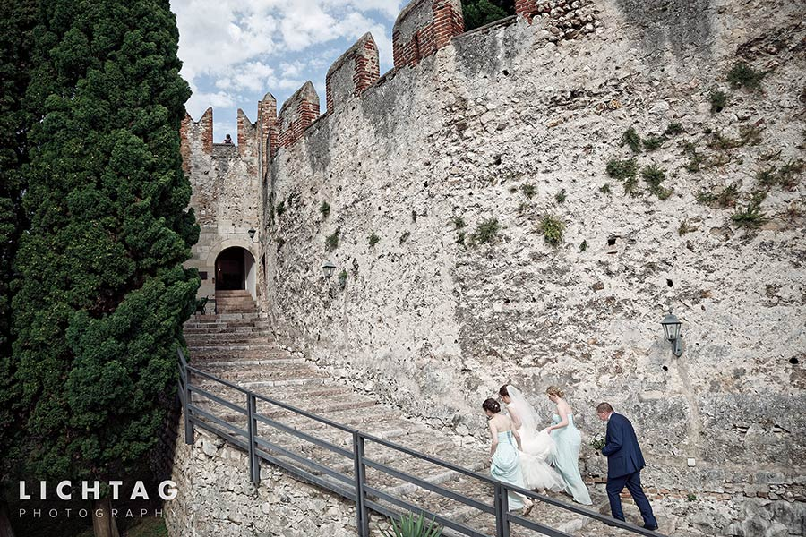Rebecca & Samuel's wedding at Malcesine Castle, lake Garda