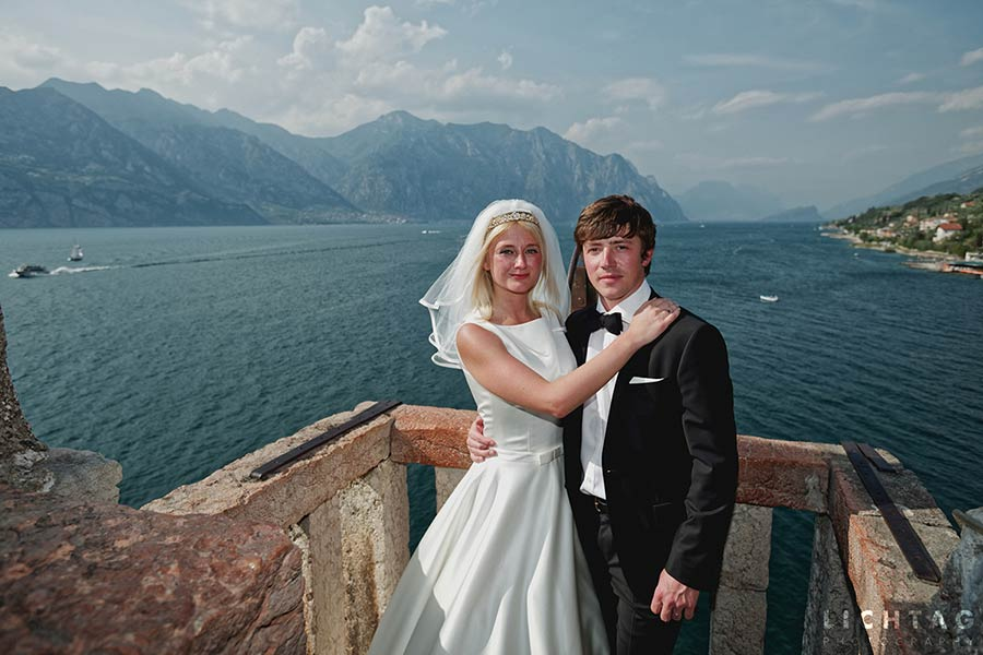 Wedding on top of Malcesine Castle