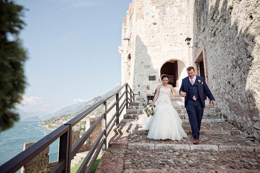 Sheila & Cyril's wedding at Malcesine Castle
