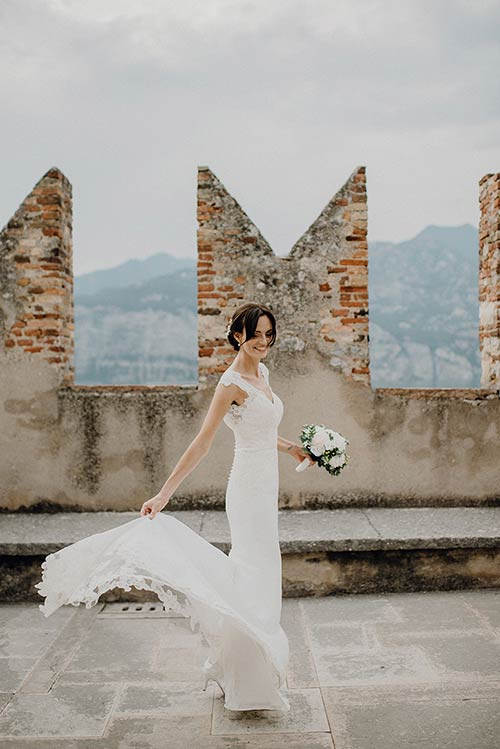Italy's best wedding planners in Malcesine Castle