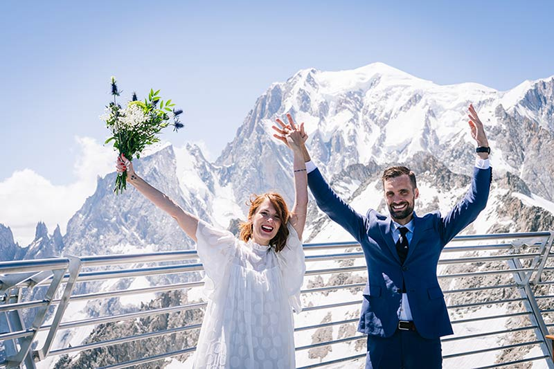 Wedding on top of Mont Blanc in Italy