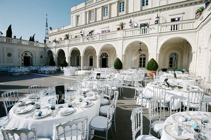 Wedding reception at Villa Miani