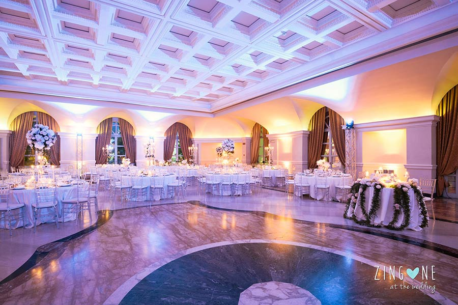 A wedding at Villa Miani can host from 40 guests up to 500 people
