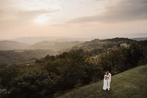 A White Country Chic wedding on top of Langhe hills