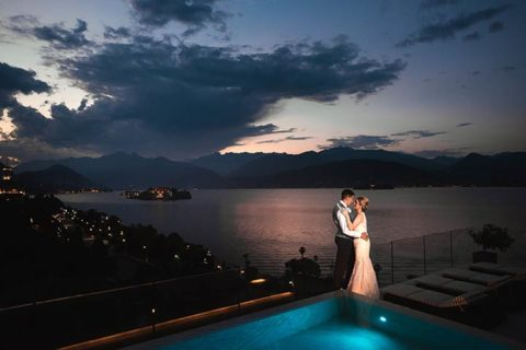 Outdoor Wedding Ceremony by the Shores on Lake Maggiore