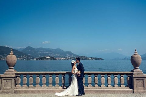 An Orange Themed Wedding on Lake Maggiore